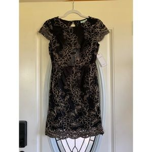 Red Dress Boutique Dresses - Black and gold cocktail dress